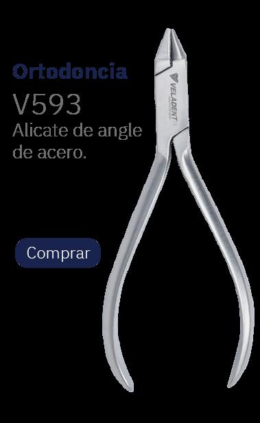 Pinza porta clamp Ivory de acero de 17cm - Veladent